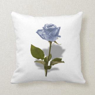 Color de rosa azul de la foto floral del cojín