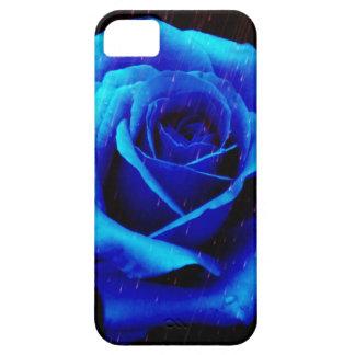 Color de rosa azul dramático funda para iPhone SE/5/5s