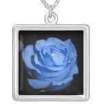 Color de rosa azul grimpola personalizada