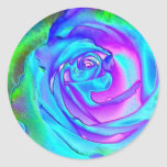 Color de rosa azul imponente etiqueta