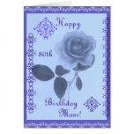 Color de rosa azul: ¡Mamá del feliz cumpleaños! Tarjeta De Felicitación