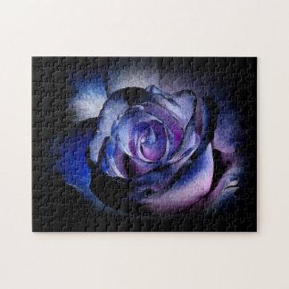 Color de rosa azul marino puzzles