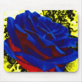 Color de rosa azul mouse pads