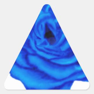 Color de rosa azul calcomanía trianguloada