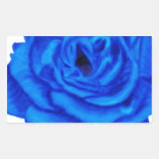 Color de rosa azul pegatinas