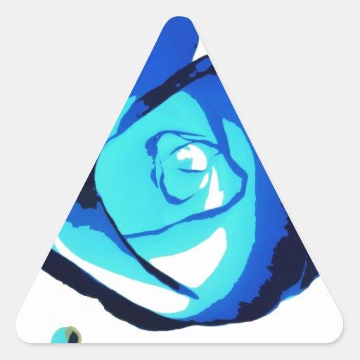 ¡Color de rosa azul! Pegatina Triangular