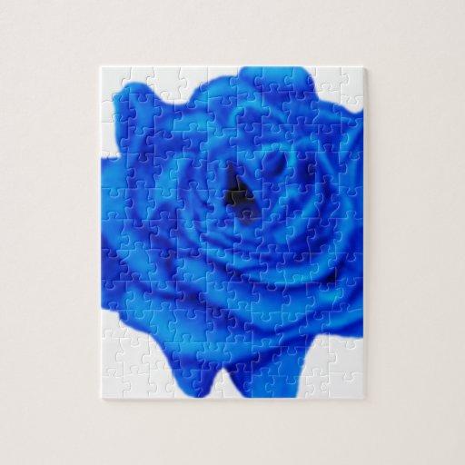 Color de rosa azul rompecabeza con fotos