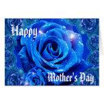 Color de rosa azul tarjeta de felicitación