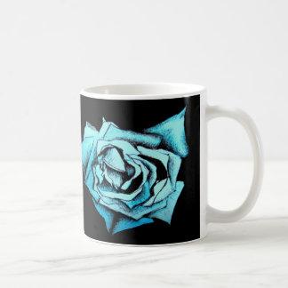 Color de rosa azul taza