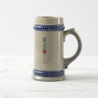 color de rosa azul taza de café