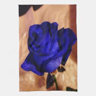 Color de rosa azul único y elegante de encargo toalla