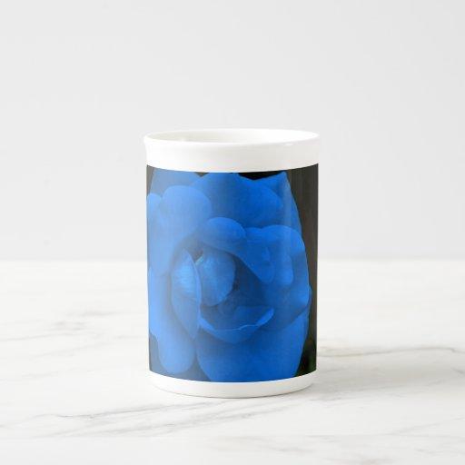 Color de rosa azul y su significado taza de porcelana