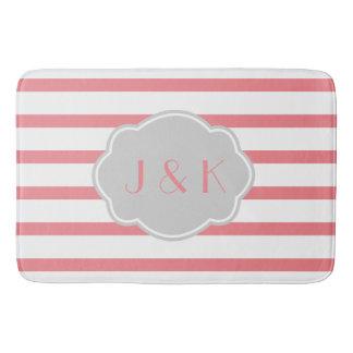 Color de rosa/blanco raya gris de w, añaden