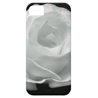 Color de rosa blanco y negro iPhone 5 Case-Mate protectores