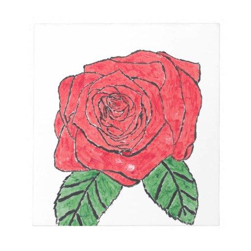 Color de rosa bloc de notas