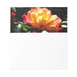 Color de rosa bloc de papel