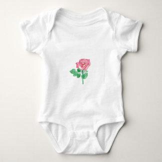 Color de rosa body para bebé