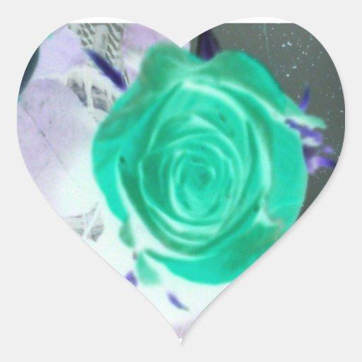 color de rosa bonito calcomania corazon personalizadas