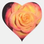 color de rosa calcomanías de corazones