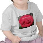 Color de rosa - camiseta del bebé