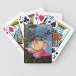 Color de rosa cartas de juego