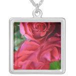 Color de rosa colgante cuadrado