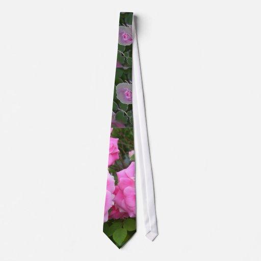 Color de rosa corbata personalizada