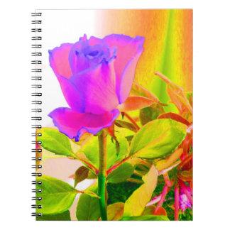 Color de rosa libro de apuntes
