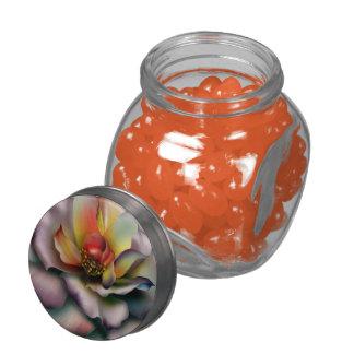 Color de rosa de color de malva jarras de cristal