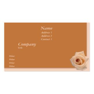 Color de rosa de color salmón tarjetas de visita