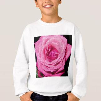 Color de rosa de cuero sudadera