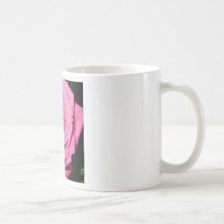 Color de rosa de cuero taza de café