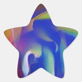 Color de rosa de neón calcomania forma de estrella personalizada
