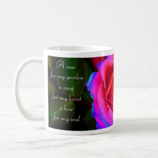 Color de rosa de neón taza de café
