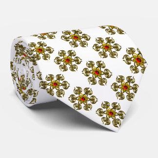 COLOR DE ROSA DE ORO CON el RUBÍ ROJO, blanco Corbatas Personalizadas