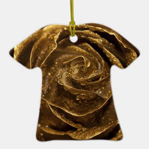 Color de rosa de oro elegante adorno para reyes