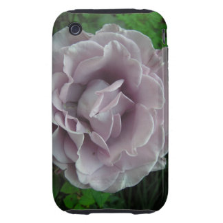 Color de rosa de plata iPhone 3 tough fundas