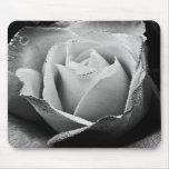 Color de rosa de plata tapete de ratones