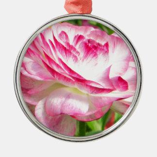 Color de rosa ornamentos de navidad