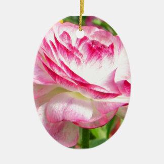 Color de rosa adornos de navidad