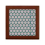 Color de rosa del arte geométrico y verde polvorie cajas de regalo