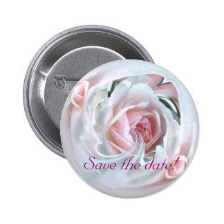 color de rosa delicado en el mármol 2 pin redondo 5 cm