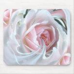 Color de rosa delicado en mármol alfombrillas de raton