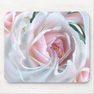 Color de rosa delicado en mármol tapetes de raton