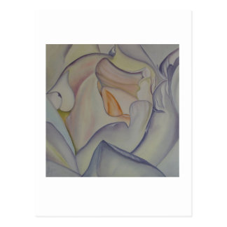 Color de rosa delicado - tarjeta del arte tarjeta postal