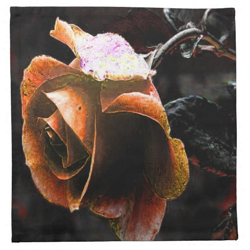 Color de rosa descolorada servilletas de papel