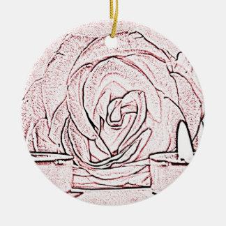 Color de rosa, dos velas ligeras del té, hechas en ornato