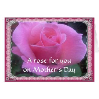 Color de rosa dulce tarjeta de felicitación
