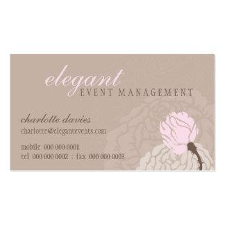 Color de rosa elegante ELEGANTE de la TARJETA de V Plantillas De Tarjetas Personales
