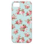 Color de rosa elegante lamentable iPhone 5 protectores